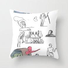 jikjikjik Throw Pillow