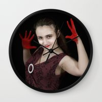 vampire Wall Clocks featuring vampire by Joasiekk