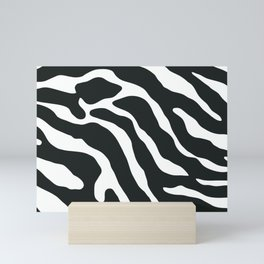 Tiger Skin Pattern Black & White Mini Art Print
