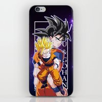 goku iPhone & iPod Skins featuring Goku & Gohan by Neo Crystal Tokyo