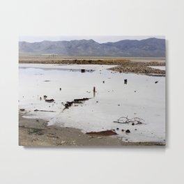 Junk at the Great Salt Lake Metal Print