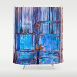 Old Door,Santorini Shower Curtain