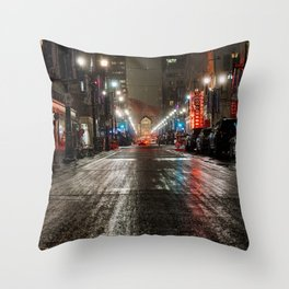 Downtown Calgary Throw Pillow
