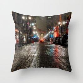 Downtown Calgary Throw Pillow