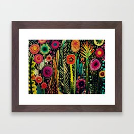 printemps (old fabric) Framed Art Print