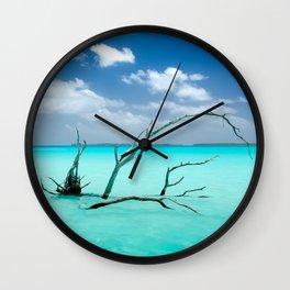 Driftwood in Lagoon Wall Clock