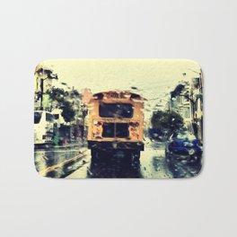 frisco kid // yellow bus Bath Mat