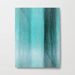 Turquoise Grain Metal Print