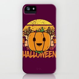 Spooky Pumpkin Scene Halloween | Funny & Great Gift iPhone Case