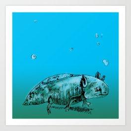 Axolotl 2 Art Print
