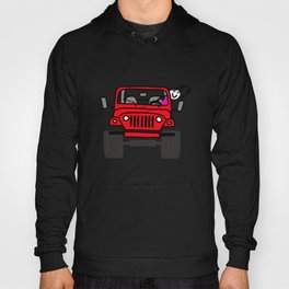 Jeep Wave Girl - Red Hoody