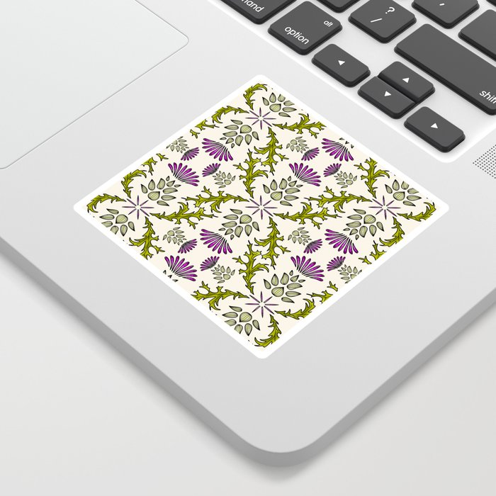 Wild Thistle Meadow Sticker