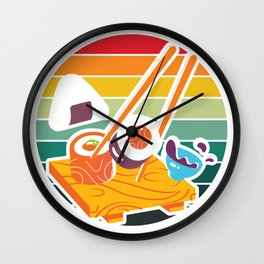 Retro Sushi Wall Clock