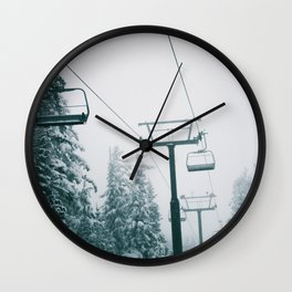 Ski Lift II Wall Clock