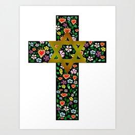 Christian David Cross Art Print