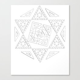 Marisa Kirisame's Sigil (Ordinary Magician, Full, White) - Touhou Project Canvas Print
