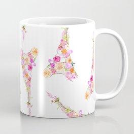 Flowers Floral Eiffel Tower Fashion Nature Stylish Minimalism Coffee Mug
