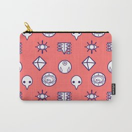 evangelion nerv angels pattern asuka red Carry-All Pouch