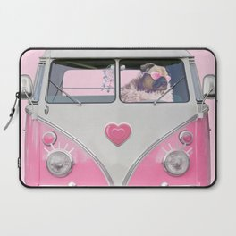 Pug Girly Adventure Laptop Sleeve