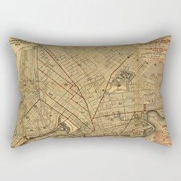Map Of Brooklyn 1874 Rectangular Pillow