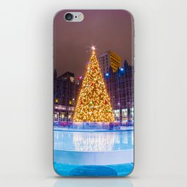 Christmas in Market Square iPhone Skin