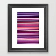 Striped Framed Art Print