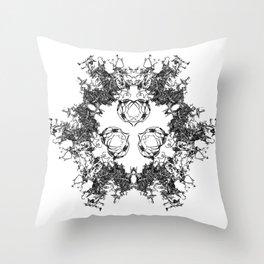 Mitosis (No. 1) | Black & White Throw Pillow