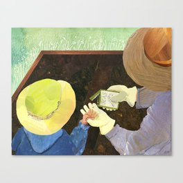 May Sowing Seeds Canvas Print