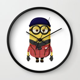 Hipster Minion Wall Clock