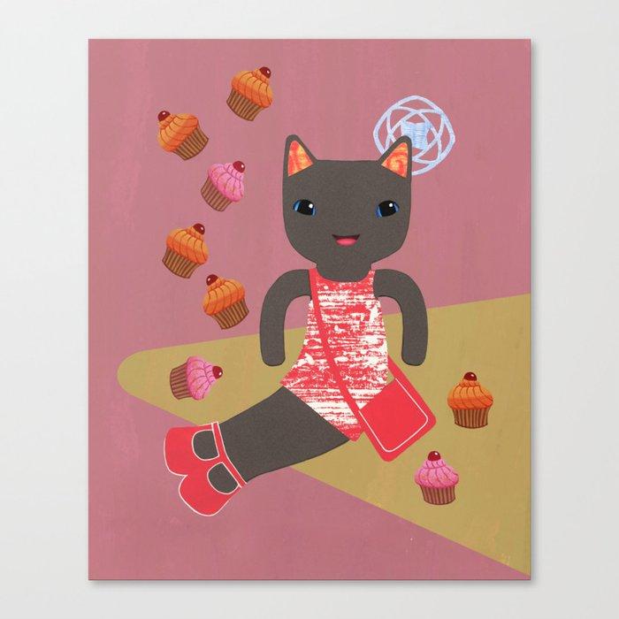 cupcake shower Canvas Print