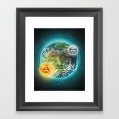 The Earth Framed Art Print