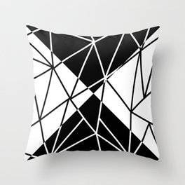 SEGMENT (BLACK-WHITE) Throw Pillow