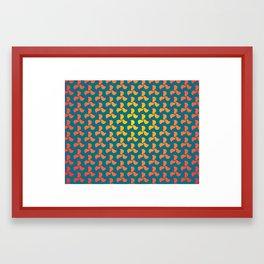 Pinwheel pattern Framed Art Print