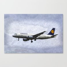 Lufthansa Airbus A320 Art Canvas Print