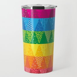 Rainbow Triangles Travel Mug