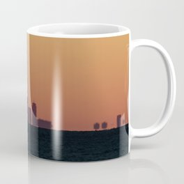 Boston skyline Silhouette at sunset from Gloucester Coffee Mug