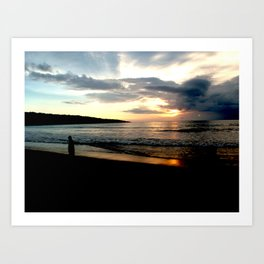 Balinese Sunset Art Print