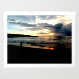 Balinese Sunset Art Print