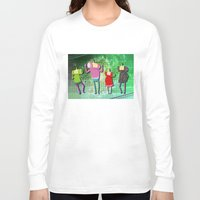 katamari Long Sleeve T-shirts featuring Katamari Cousins Set by cakeisforrobots