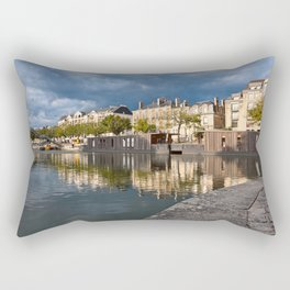 Nantes Riverside Scenery Rectangular Pillow