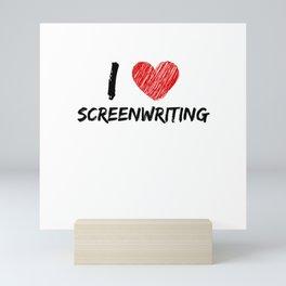 I Love Screenwriting Mini Art Print