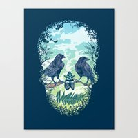 skull Canvas Prints featuring Nature's Skull by Rachel Caldwell
