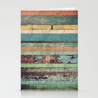 wooden Stationery Cards featuring Wooden Vintage  by Patterns and Textures