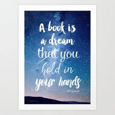Neil Gaiman, quotes, inspirational art, beautiful words Art Print