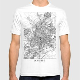 Madrid White Map T-shirt