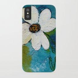 WHITE WHIMSICAL FLOWER iPhone Case
