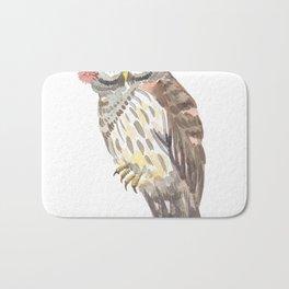 Owl with flower crown Bath Mat