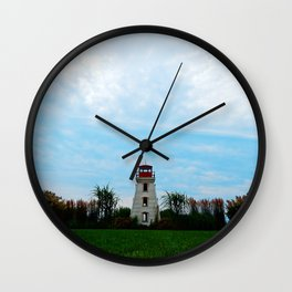 Garden and Lighthouse at the bottle houses Wall Clock