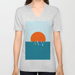 Minimal regatta in the sun Unisex V-Neck