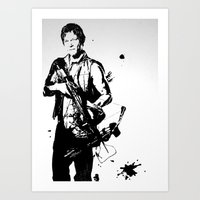 daryl dixon Art Prints featuring Daryl Dixon by Black And White Store